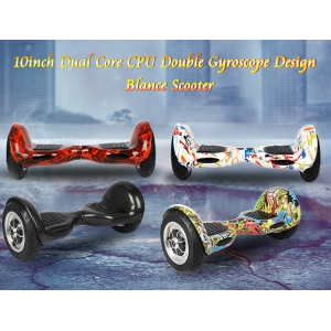 10.1inch Dual Core CPU Double Gyroscope Two wheel Balance Scooter Q10