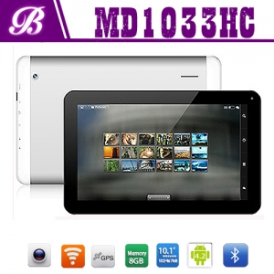 10.1inch Android tablet pc with 1G+8G 1024*768 TN screen front 0.3M real 2.0M camera with bluetooh 3G