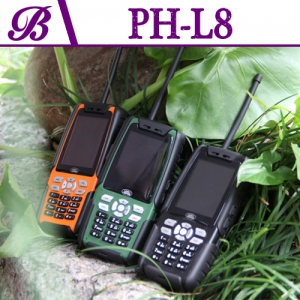 2.4-inch Resolution 320 * 240 3800 mA Memory 64MB + 64MB Support Bluetooth  Military Standard Rugged Phone L8