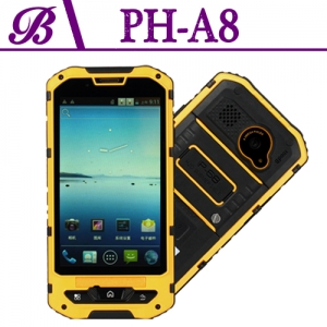 4.1inch Shockproof Rugged Tough Mobile Memory 512MB + 4G  Resolution 480 * 800 Front Camera 0.3M Rear Camera 5.0M