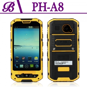 4.0inch Waterproof Cell Phone With 480*800 Resolution 512MB+4G Front Camera 0.3M Rear Camera 5.0M Support GPS WIFI BT