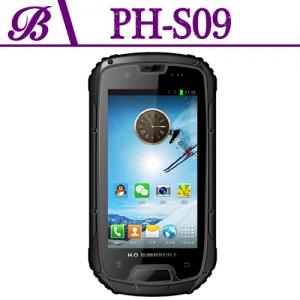 4.3inch 960 × 540 QHD IPS Screen 1G + 4G Supports Bluetooth WIFI GPS Quad-core Indestructible Mobile Phones S09