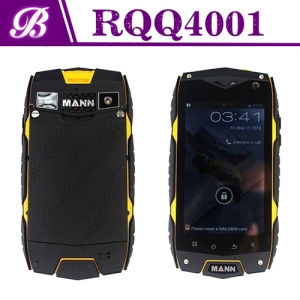 4inch Quad Core MSM8212 800 * 480 1G 4G Front 0.3MP Rear 5.0MP with 3G GPS WIFI Bluetooth Dual SIM Card Rugged Phone RQQ4001