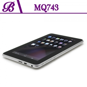 7 inch Battery 2400 mAh 1G + 4G Front Camera 0.3MP Rear Camera 2.0MP 800 * 480 VGA Tablet PC China Supplier MQ743