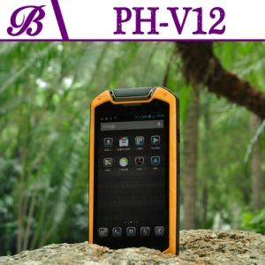 720 * 1280 IPS 2G + 8G Supports Bluetooth GPS NFC 4 inch Walkie Talkie Rugged Moblie Phone V12
