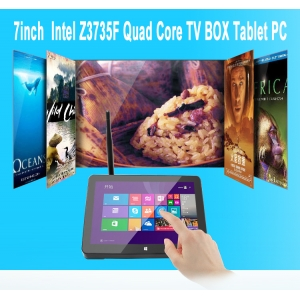 7 polegadas PC 1024 * 600 2G 16G Intel Quad Core Z3735F Windows 10 + Android 4.4 TV BOX Tablet
