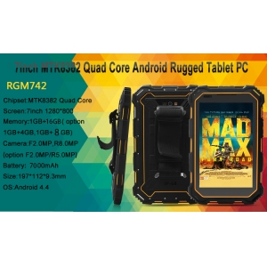 7inch πυρήνα MTK8382 Quad 1G 8G 1280 * 800 IPS 3G GSM GPS Wifi Tablet PC BT