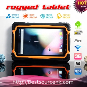 7inch waterproof dustproof  shockproof tablet pc MTK 6577 1.0GHz Dual Core Cortex A9 with wifi bluetooth GPS