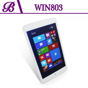 8 inch BAYTRAIL-T Z3735G Chipset Front Camera 0.3MP Rear Camera 2.0MP 800 * 1280 IPS 1G + 16G Intel Windows Tablet Win803