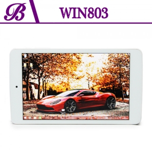 8 inch BAYTRAIL-T Z3735G Chipset Front Camera 0.3MP Rear Camera 2.0MP 800 * 1280 IPS 1G + 16G Tablet Computer  Win803