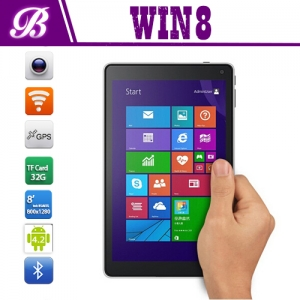 8inch intel tablet pc with wifi BT 1G+16G 800*1280 IPS screen