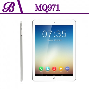 9.7 inch 1G + 16G 1024 * 768 Front Camera Rear  0.3MP  Camera 5.0MP  Support GPS 3G WIFI Bluetooth Dual Camera Tablet PC MQ971