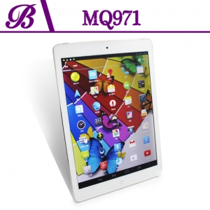 9.7 inch 1G + 16G 1024 * 768 IPS  Front Camera  0.3MP  Rear Camera  5.0MP  Support GPS 3G WIFI Bluetooth Capacitive Screen Android 4.2 Tablet PC  MQ971