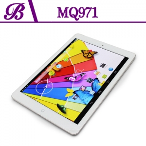 9.7inch 1024 * 768 IPS Caméra 1G + caméra frontale 0.3MP 16G arrière 5.0MP 3G Android Tablet PC MQ971