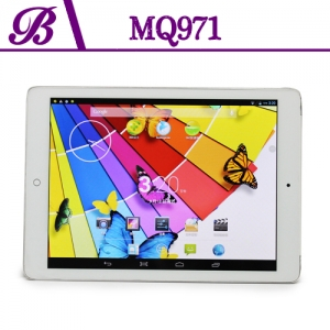9.7inch MTK8382 Quadcore 1G + 16G 1024 * 768 IPS Front Camera  0.3MP   Rear Camera  5.0MP  Support  GPS 3G WIFI Bluetooth  WCDMA Tablet PC MQ971