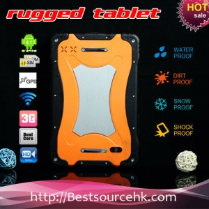 Android 4.2 1G/4G 7inch IPS1024*600 rugged tablet PC support electronic compass with 2G/3G phone call