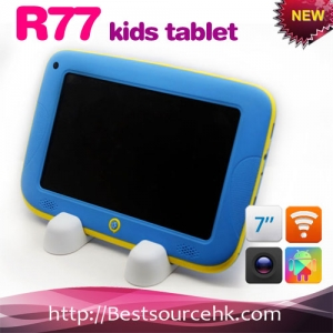 Android 4.2.2 7inch kids tablet R77 with rugged colorful case 512M 4G-md