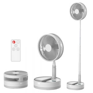 Handheld fan foldable with USB rechargeable battery foldable Standing Fan Portable folding pedestal fan