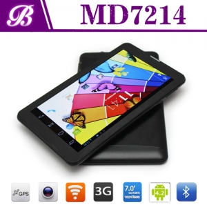 Hot Sale Products! ! ! MTK8312 Dual Core Battery 2500 mAh 1024 * 600 IPS 1G + 16G 7inch China Tablet  Developers MD7214