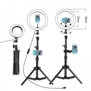 Hot sale fill light with metal base for video recording makeup live desk ring light lamp
