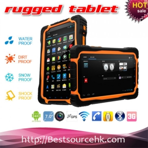 M76Q  waterproof dustproof shockproof 7inch tablet pc with wifi bluetooth GPS