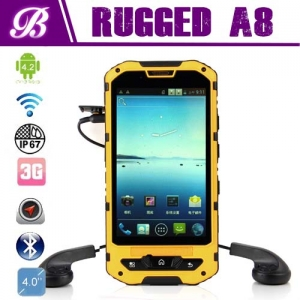 Original IP68 Rugged Phone A8 WIth Android 4.2 Waterproof Dustproof Shockproof Funtion Support GPS 3G Wifi
