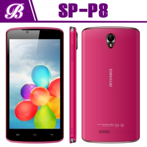 P8 MTK6572W Dual core  3G WCDMA+GSM with  GPS Bluetooth wifi 5 inch FWVGA  480x854