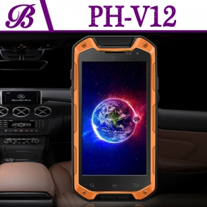 Bluetooth NFC WIFI GPS 2G + 8G 720 * 1280 IPS Screen 4inch GPS Mobile Phone V12