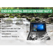"China 10.1"" Intel Z8300 Quad Core 1920*1200 IPS Dual OS Rugged Tablet PC factory"
