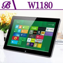 China 11.6 inch Intel Ivy Bridge Celeron 2G 32G 1366 * 768 Front  1.0MP and Rear 2.0MP Camera Touch Tablet PC W1180 factory