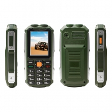 China 2.4inch MTK6261D 32MB+16MB 240*320 0.08MP Rear Camera GSM Dual Flashlight Feature Phone RFP245 factory