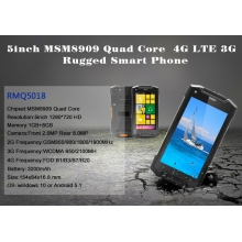 China 5inch MSM8909 Quad Core 1G 8G 1280*720 Windows Rugged Phone factory