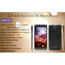China 5.5inch MTK6572 Dual Core 512MB 4GB 960*540 Front 0.3MP Rear 2.0MP  52USD Low Price Smart Phone MD5502 factory
