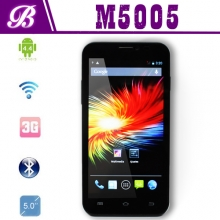 China 5inch MTK6572 Dual Core Smart Phone With 854*480 TN 512MB+4G Front/Rear Camera 0.3M/2.0M factory