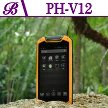China 720 * 1280 IPS 2G + 8G Supports Bluetooth GPS NFC 4 inch Walkie Talkie Rugged Moblie Phone V12 factory