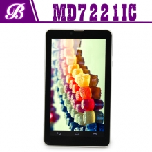 China 7inch MTK6572 Dual core 512MB+4G 1024*600 front 0.3M real 2.0M tablet pc factory