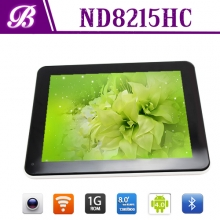 La fábrica de China 8 pulgadas 1024 * 768 HD + 1G 16G 0.3M frente 2.0M real con tablet pc gps wifi