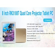 La fábrica de China 8inch RK3188T Quad Core 1GB 16GB 1280*800 Android 4.4 8000mAh Projector Tablet TP8003