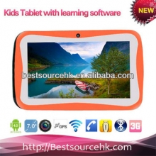 China Free game/ learning file 7inch kids tablet in middle east country factory