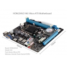 China H61 Mini ATX Motherboard 17.99USD factory