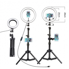 China Hot sale fill light with metal base for video recording makeup live desk ring light lamp factory