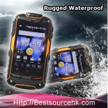 China IP67 waterproof cell phone ROCK V5+ Dual core pass CE with GPS Bluetooth Wifi factory