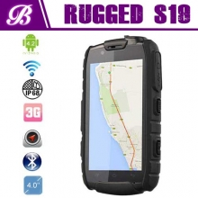 중국 IP68 4.0 inches NFC walkie Talkie Rugged 1G+4G Quad core android phone NFC S19 Rugged phone 공장
