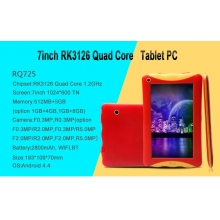 China Kid Tablet PC 7inch Quad Core RK3126 512MB 8GB with BT Wifi Tablet PC factory
