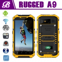 "China New!!! 4.3""A9 rugged Android phone Waterproof Shockproof  with 3G wifi bluetooth GPS NFC factory"