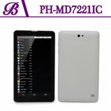 China Front Camera 0.3MP Rear Camera 2.0MP Bluetooth GPS WIFI NFC 1024 * 600 HD 7 inch Dual Core    3G WIFI Android Tablet PC Factory MD7221IC factory