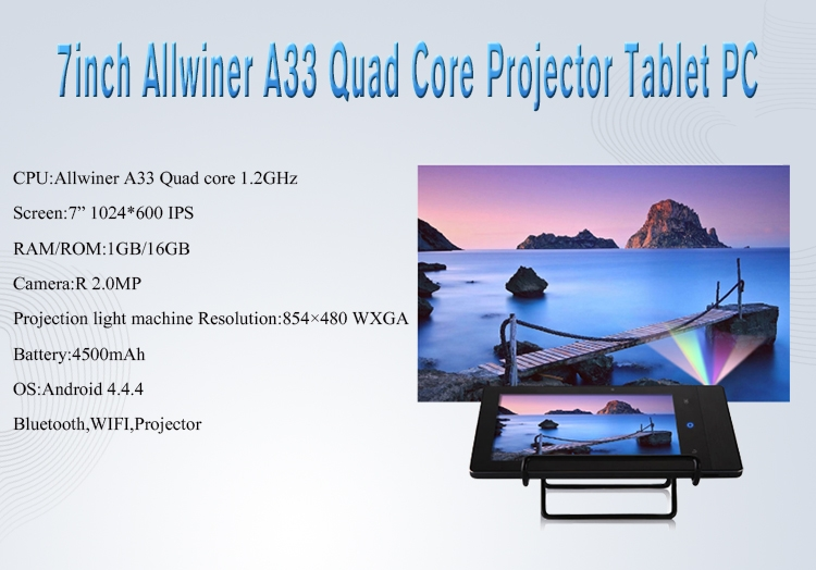 7 0inch Allwinner A33 Quad core 1G 16G 1024*600 IPS with BT